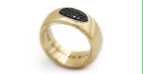 Armer - black Diamond gold ring