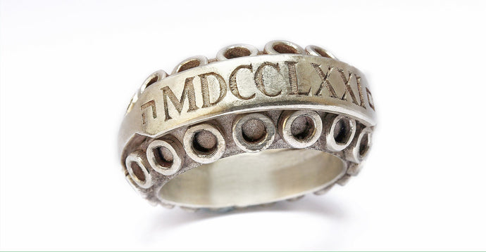 mens bikers jewelry with Roman characters