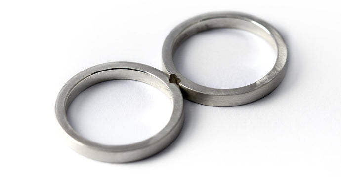 Promise rings for couples matching