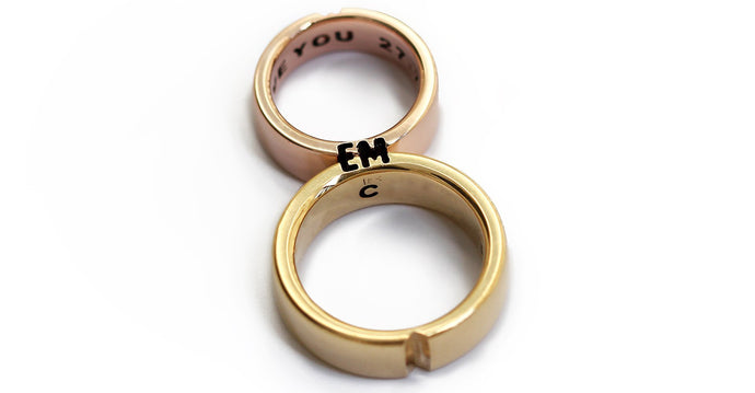 Wedding promise heart shape couple rings