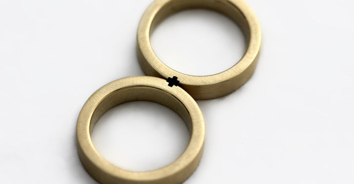 Gold promise rings for couples matching set