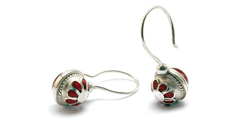 Vintage looking earrings- custom silver jewelry