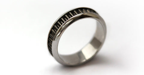 Coil- black promise rings for couples