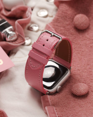 """BRITANNIC"" Pink Leather Watch Strap"