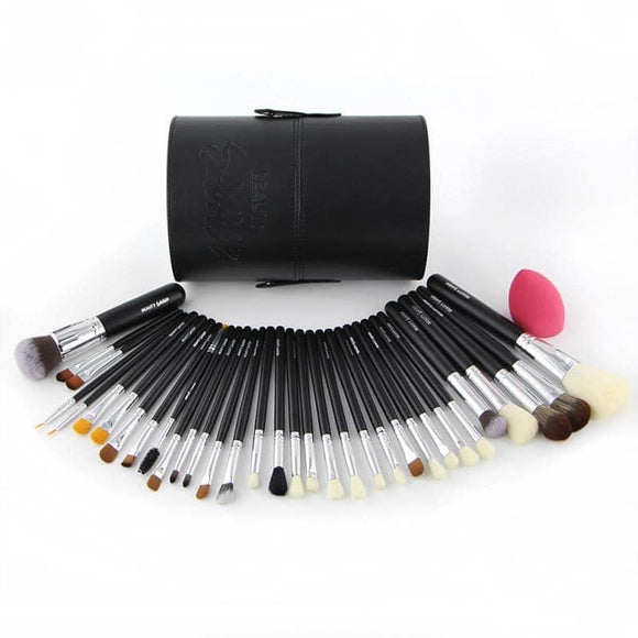BRUSH HOLDER + BRUSHES + SPONGE..  BY BEAUTY SAVAGE