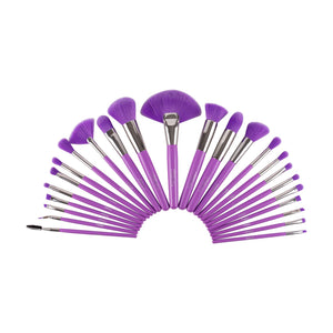 THE NEON PURPLE 24 PC BRUSH SET