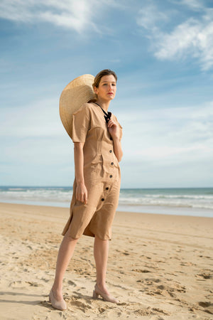 Sand Sculpted Shirt Dress