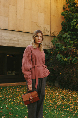 Blush Statement Sleeve Jumper