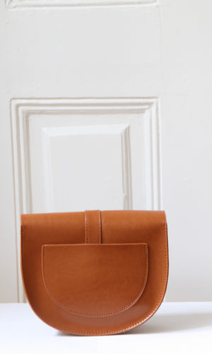 Lou Brown Leather Satchel