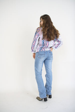 Vintage Stone Washed Straight Denim