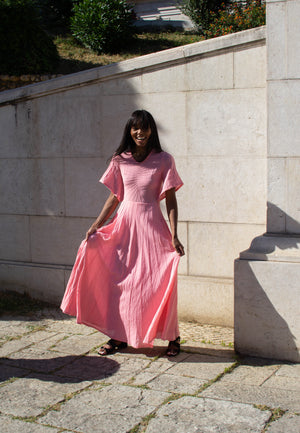 70's  Candy Cotton Maxi Dress