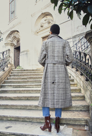 Maïla Plaid Coat