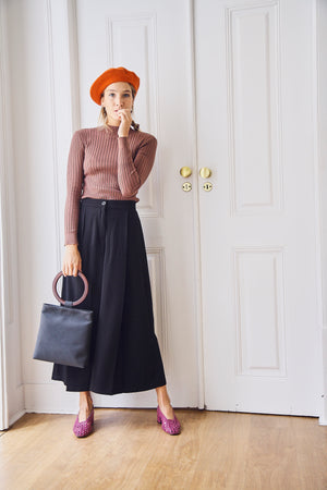 Sibel Black Wide Leg Trousers