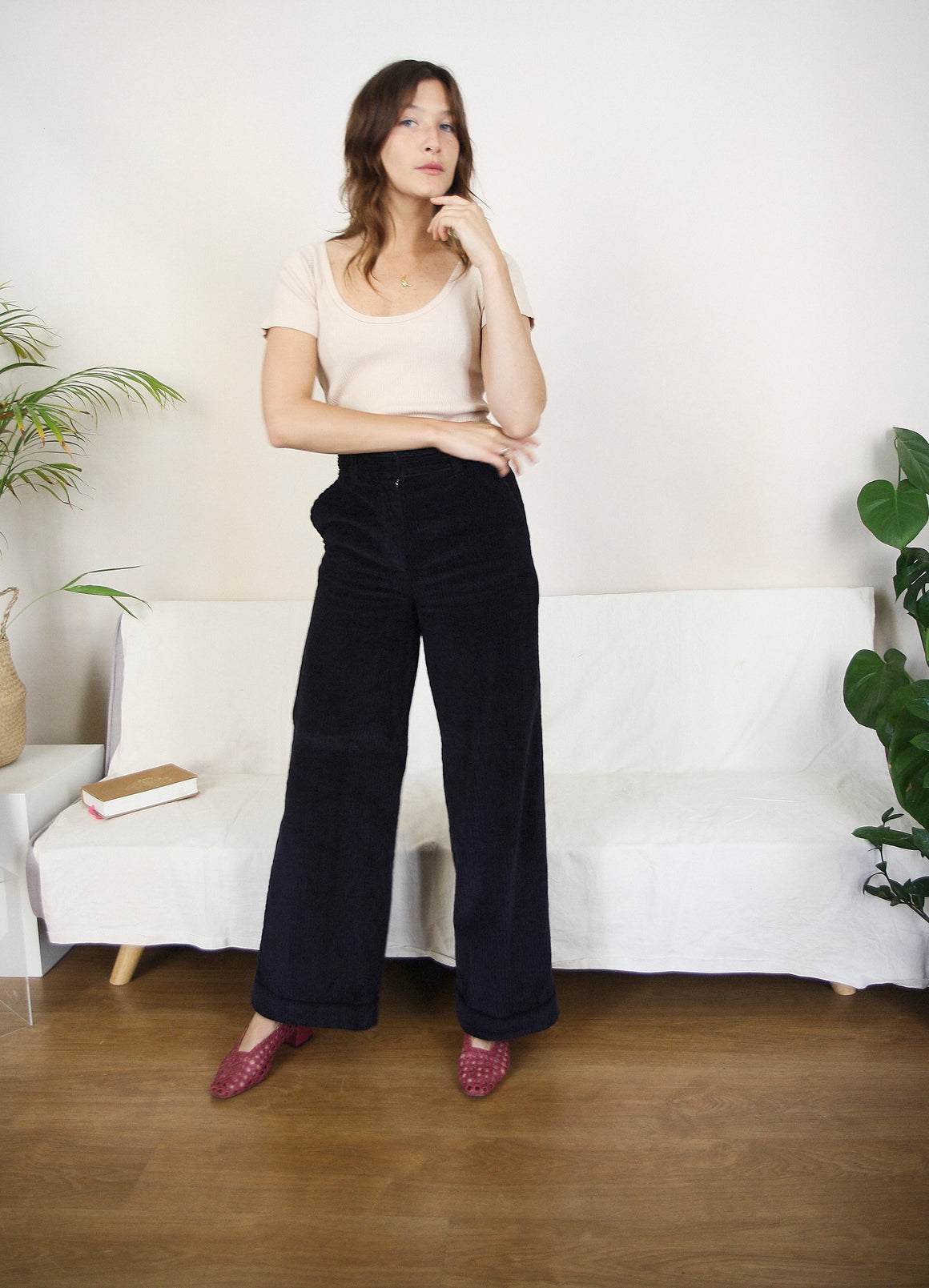 Paco Camel Corduroy Trousers