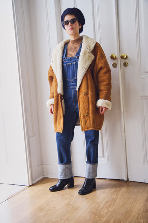 Oversized Suede Sheepskin Jacket