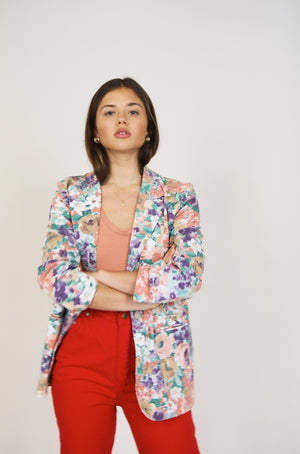 Light Cotton Floral Blazer