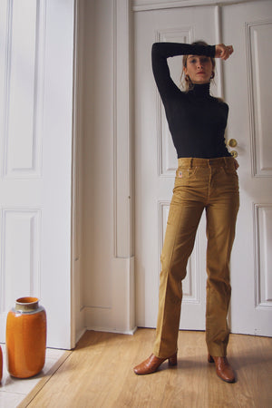 70s Mustard Corduroy Trousers