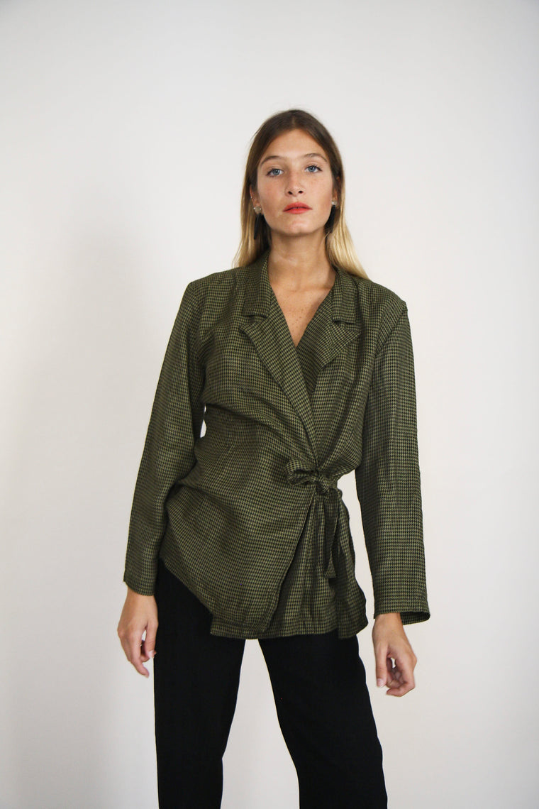 Forest Green Wrap Shirt/Jacket