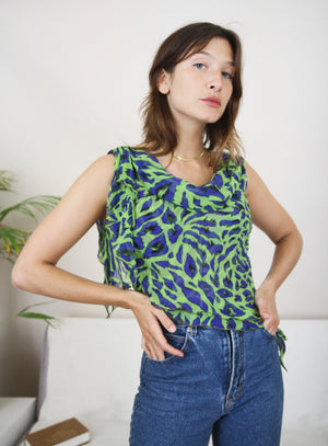 90s Silk Asymmetric Slip Top