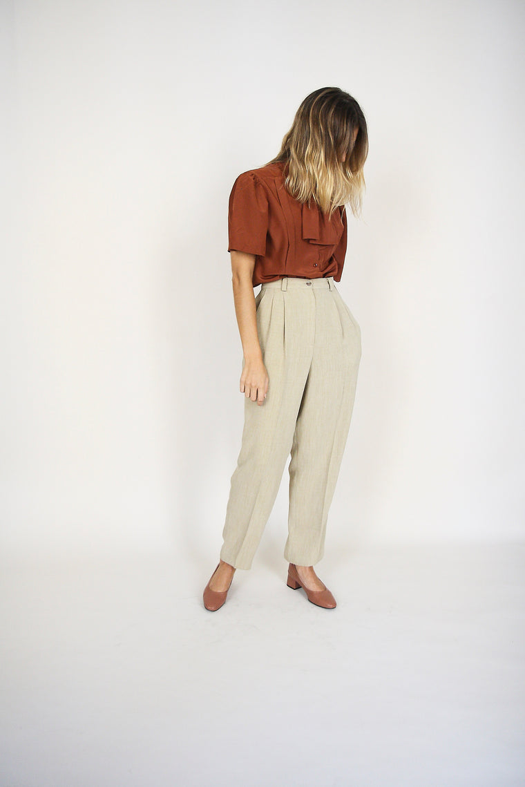 Tapered Oat Trousers