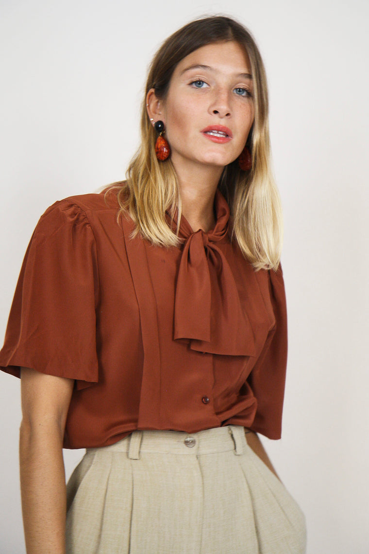 Rusty Pussy Bow Blouse