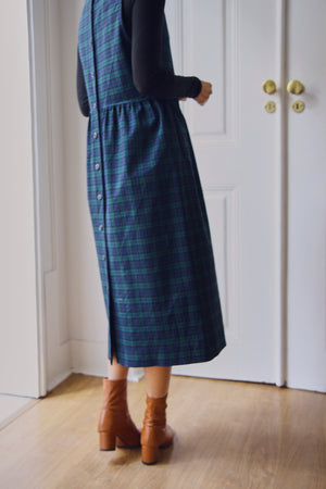 Checked Virgin Wool Pinafore Dress
