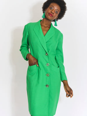Lime Shirt Dress