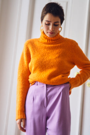 Bright Orange Turtleneck