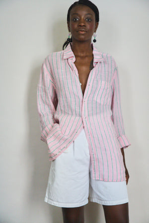 Pink and Lime Linen Shirt