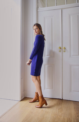 Beautiful Violet Knit Dress