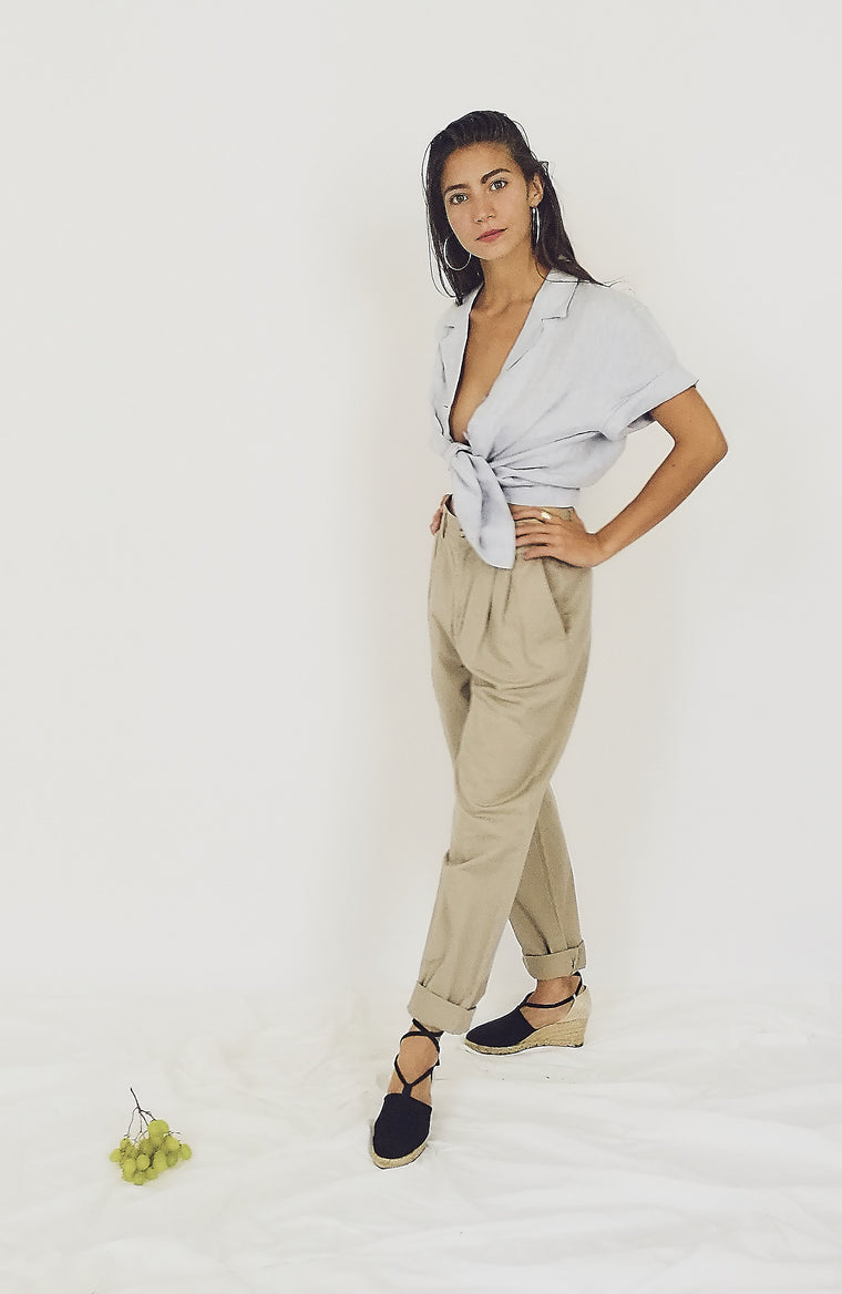 90s Khaki Cotton Trousers
