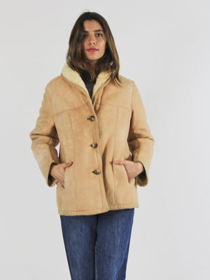 60s Caramel Sheepskin Coat