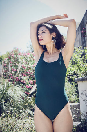 Due One-Piece Swimsuit Jade
