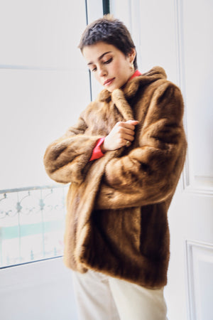 Brown Mink Fur