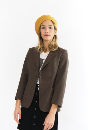 Oatmeal Tailored Wool Blazer