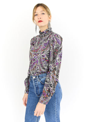 Printed Silky Blouse