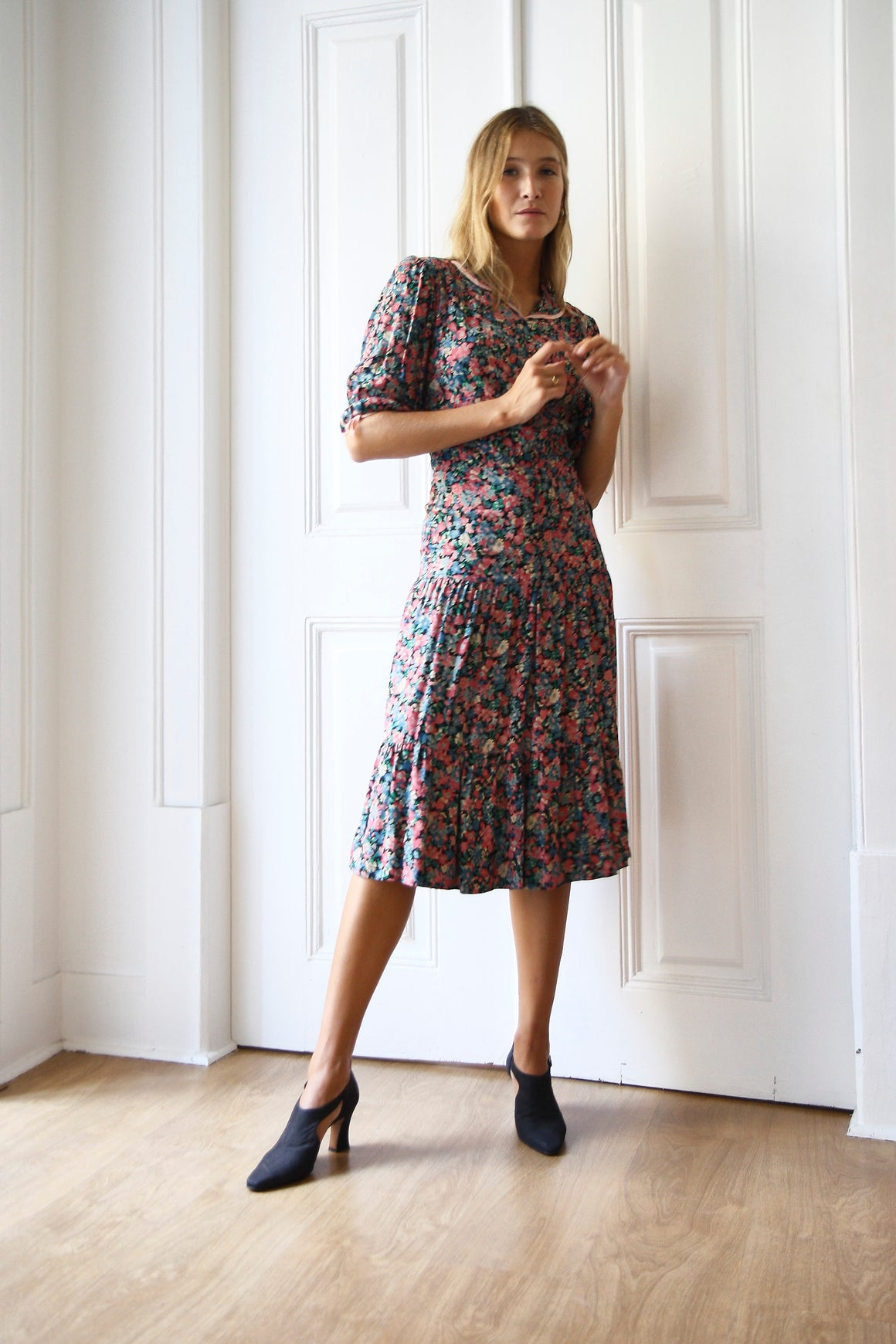 70s Floral Statement Dress