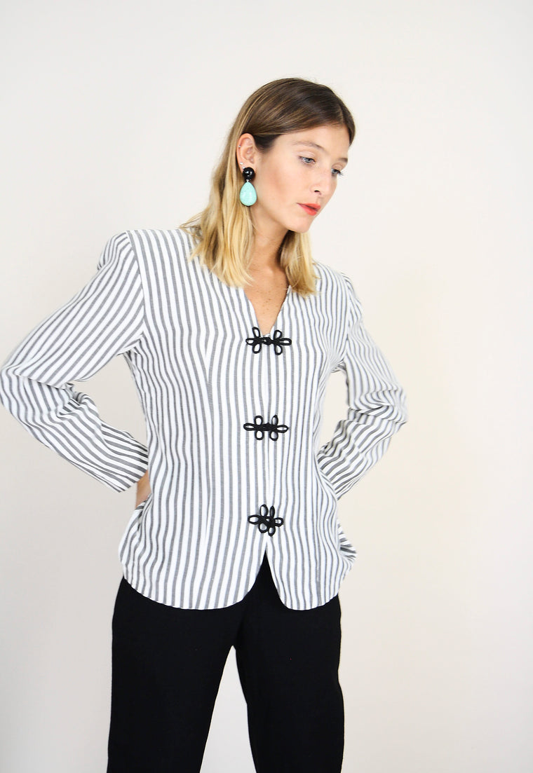 Striped Monochrome Light-weight Jacket