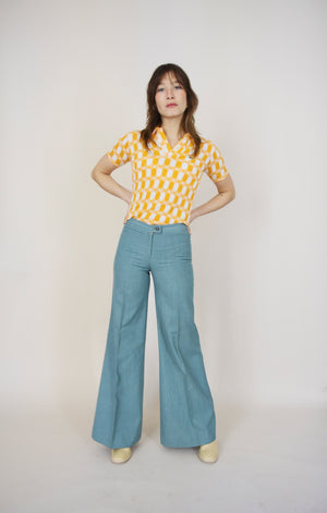 Light Teal Vintage 70s Pants
