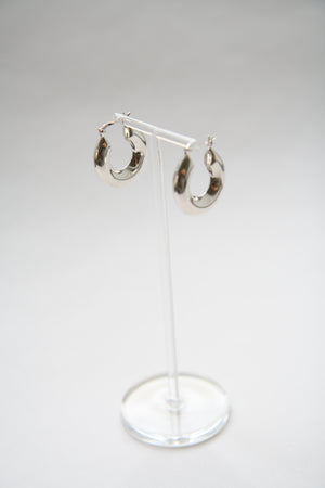 Sterling Silver Chunky Hoops