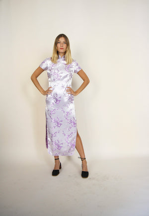 Lilac Chinese Embroidered Dress