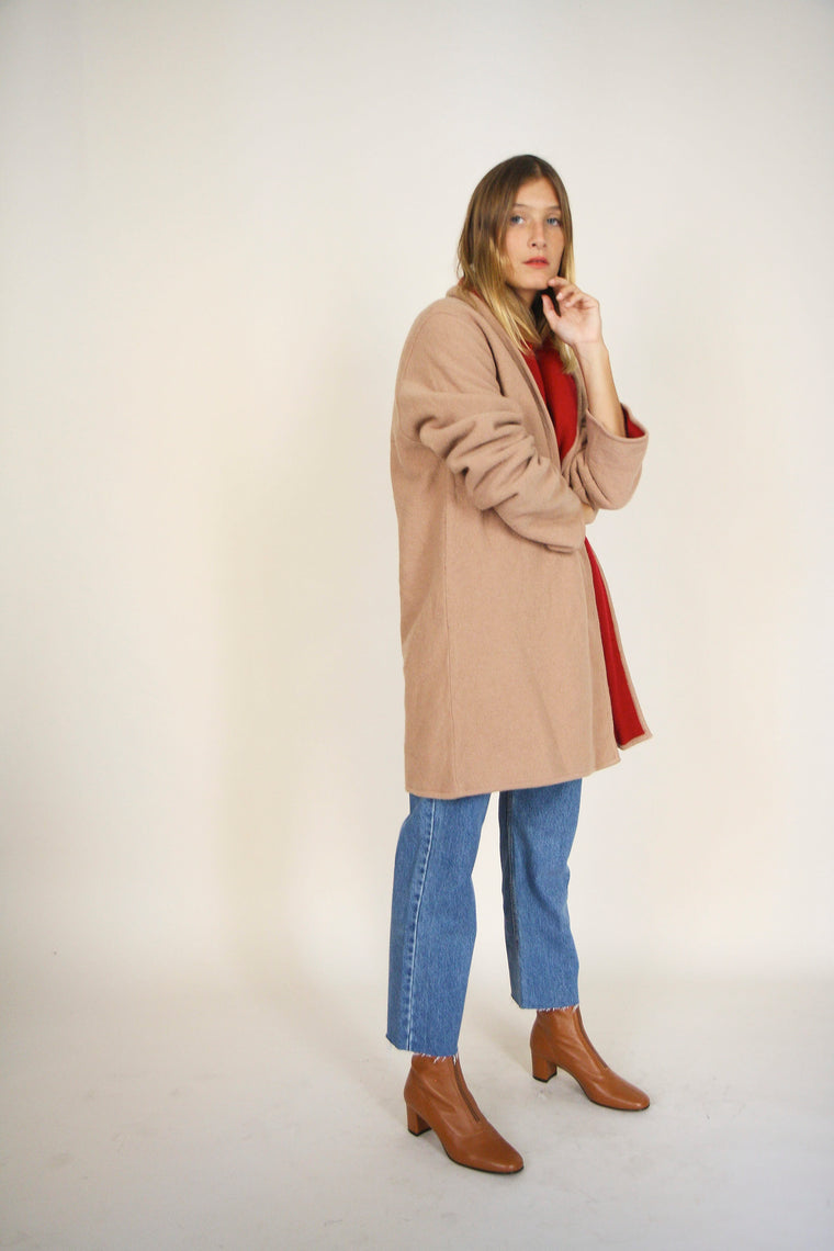 Washed Wool Reversible Coat