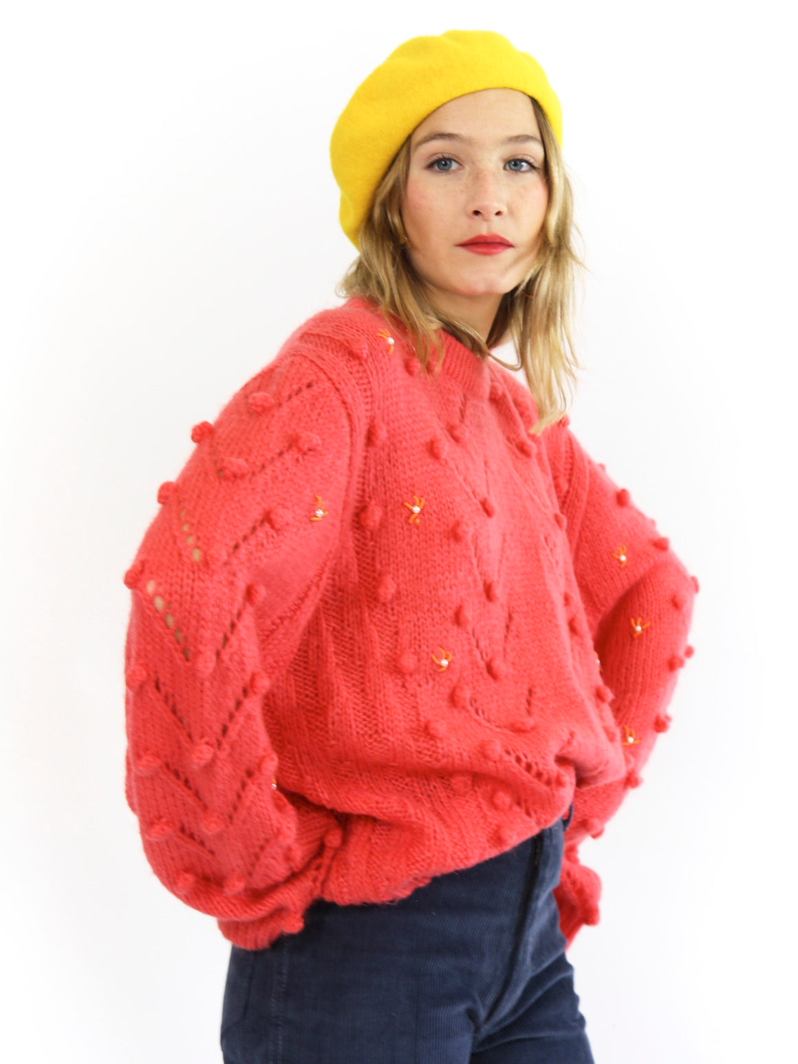 Pretty Oversized Bobble Knit Jumper