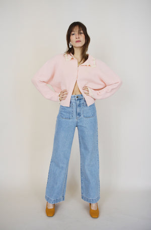 Vintage Candy Floss Knit Cardigan