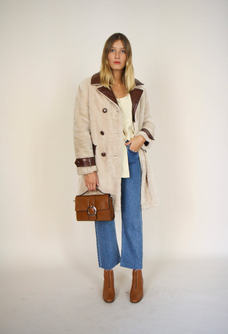 Faux Fur And PVC Teddy Bear Coat
