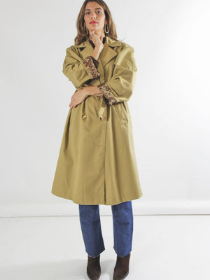 Camel loose fit rain coat