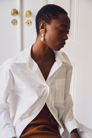 White Cotton Editors Shirt