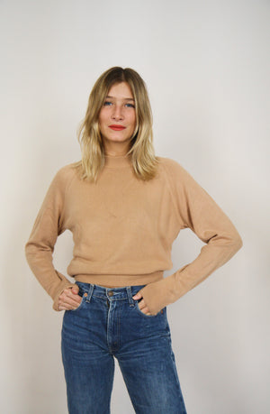 Camel Fine Knit Jumper