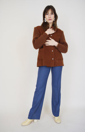 Brown 70s Knitsleeve Jacket