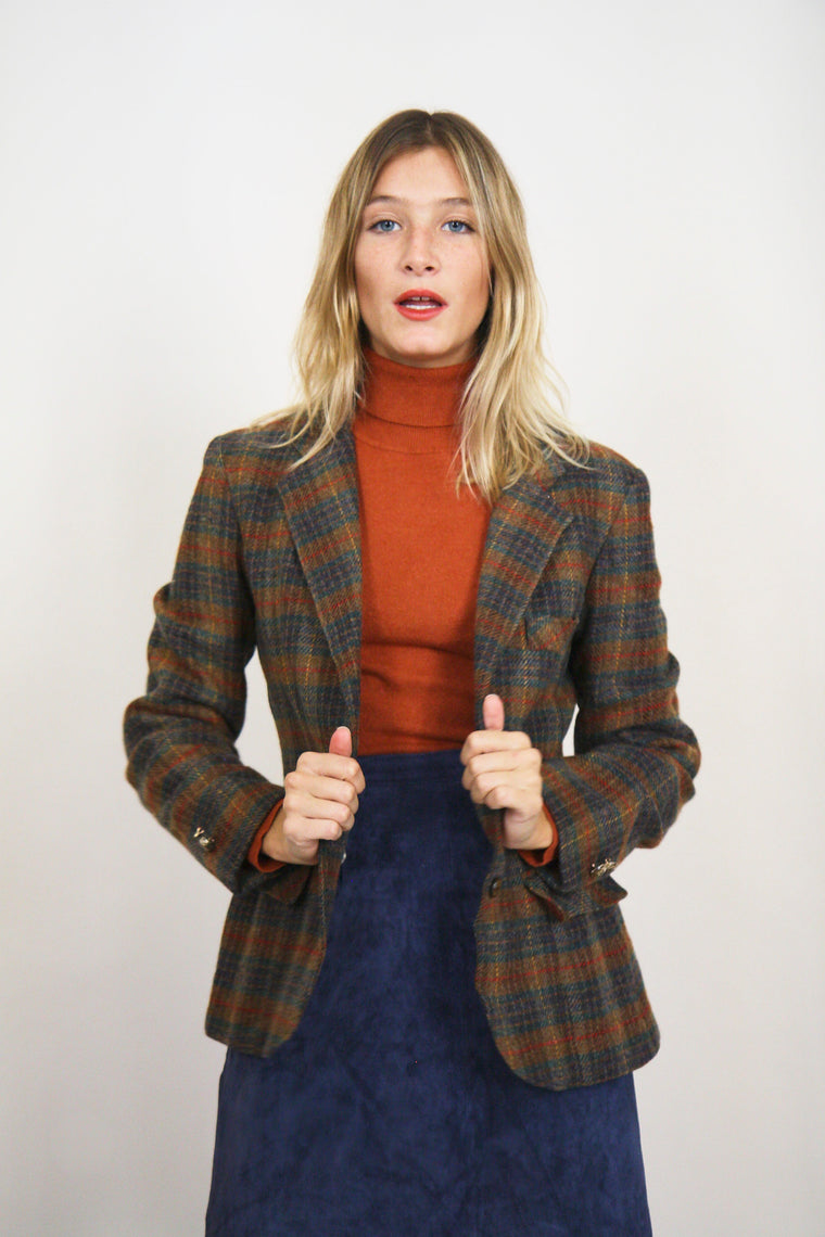 Wool Checked Blazer